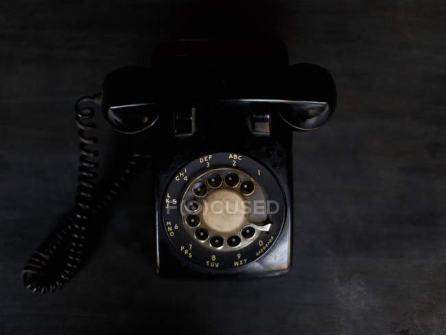 Black Rotary phone — Stock Photo