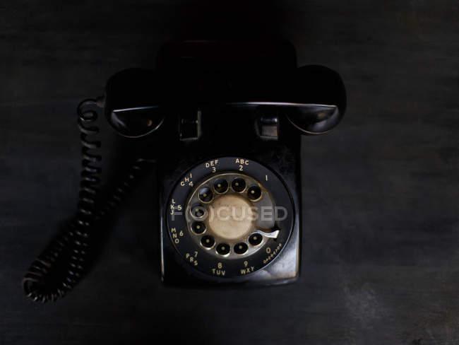 Black Rotary phone — Stock Photo
