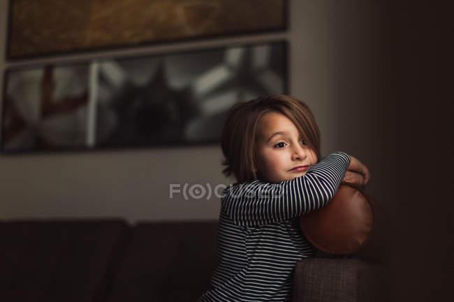 Portrait of cute girl — Stock Photo