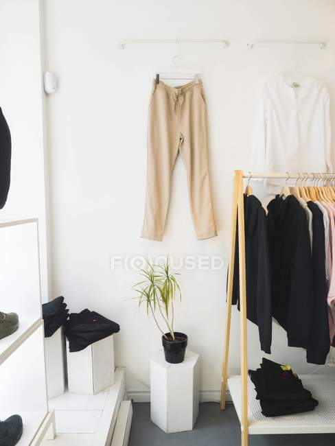 Interior of clothes shop — Stock Photo