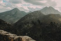Misty Highlands in Scotland — Stock Photo