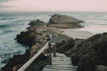Falaises sur la rive, Cap-occidental — Photo de stock