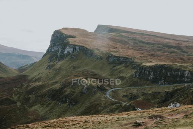 Path along the Quiraing landslip — Stock Photo