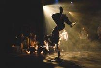 Performance on stage in university of Edinburgh — Stock Photo
