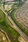 El intercambio de transporte en Beverwijk - foto de stock