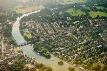 Vista aérea de Twickenham, Londres - foto de stock