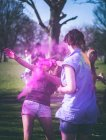 Holi War, mock Holi Festival — Stock Photo