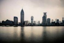 Hermoso skyline de Shanghai - foto de stock