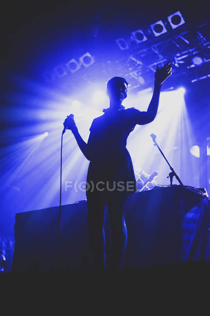 Bonobo, set live band al completo — Foto stock