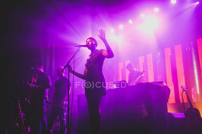 Bonobo, kompletten Band live-set — Stockfoto