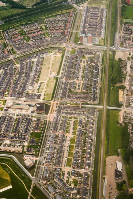 Vista aérea de Beverwijk - foto de stock