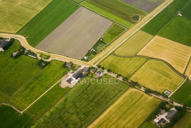 Pastos agrícolas sobre Vinkebrug - foto de stock