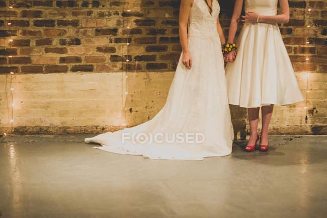 Lesbian couple wedding — Stock Photo