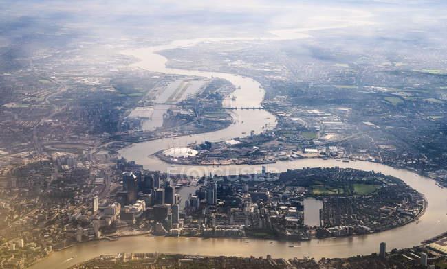 Річки Темзи в Лондоні — стокове фото