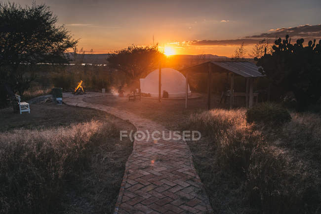 Sundown в Сан Мігель де Альєнде — стокове фото