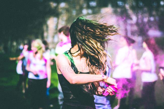 Guerra de Holi, simulacro Festival de Holi - foto de stock