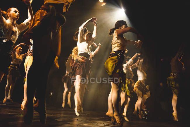 Performance on stage in university of Edinburgh — Stock Photo