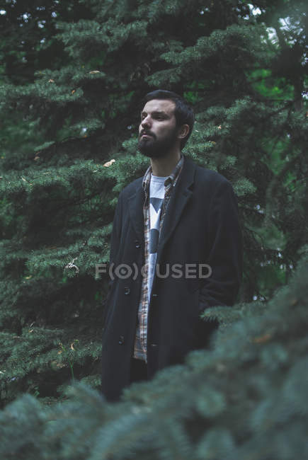 Handsome man in park — Stock Photo