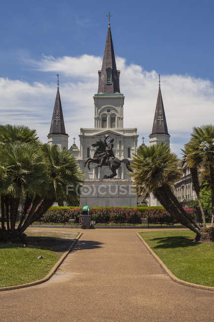 St. Louis Cathedral during daytime, New Orleans, Louisiana, USA — Stock Photo