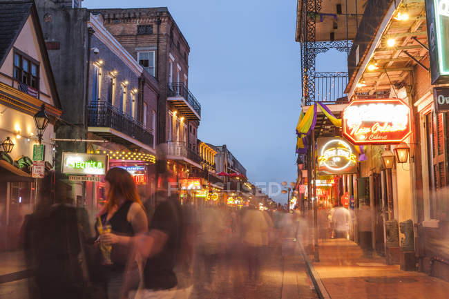 Bourbon street, french quarter of New Orleans, Louisiana, USA — Stock Photo