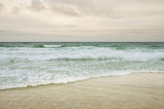 Panama city beach with wavy water , Florida, USA — Stock Photo