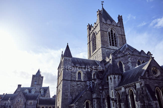 Christ Church Cathedral gegen blauen Himmel, Dublin, Irland, Europa — Stockfoto