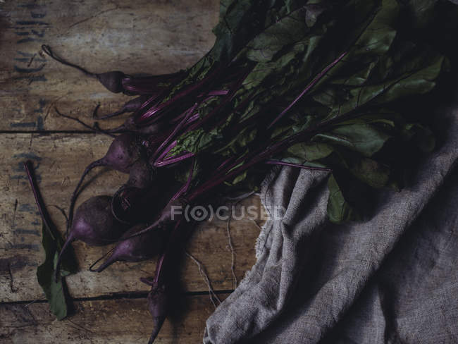Fresh picked beetroots with stalks — Stock Photo