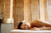 Spa treatment process — Stock Photo