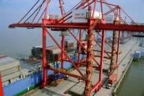 Vista del porto di Shanghai — Foto stock