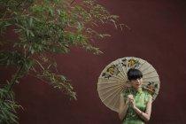 Woman wearing traditional Chinese dress — Stock Photo