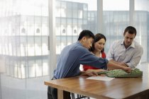 Architects having meeting in office — Stock Photo