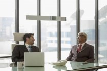 Businessmen during discussion at office — Stock Photo