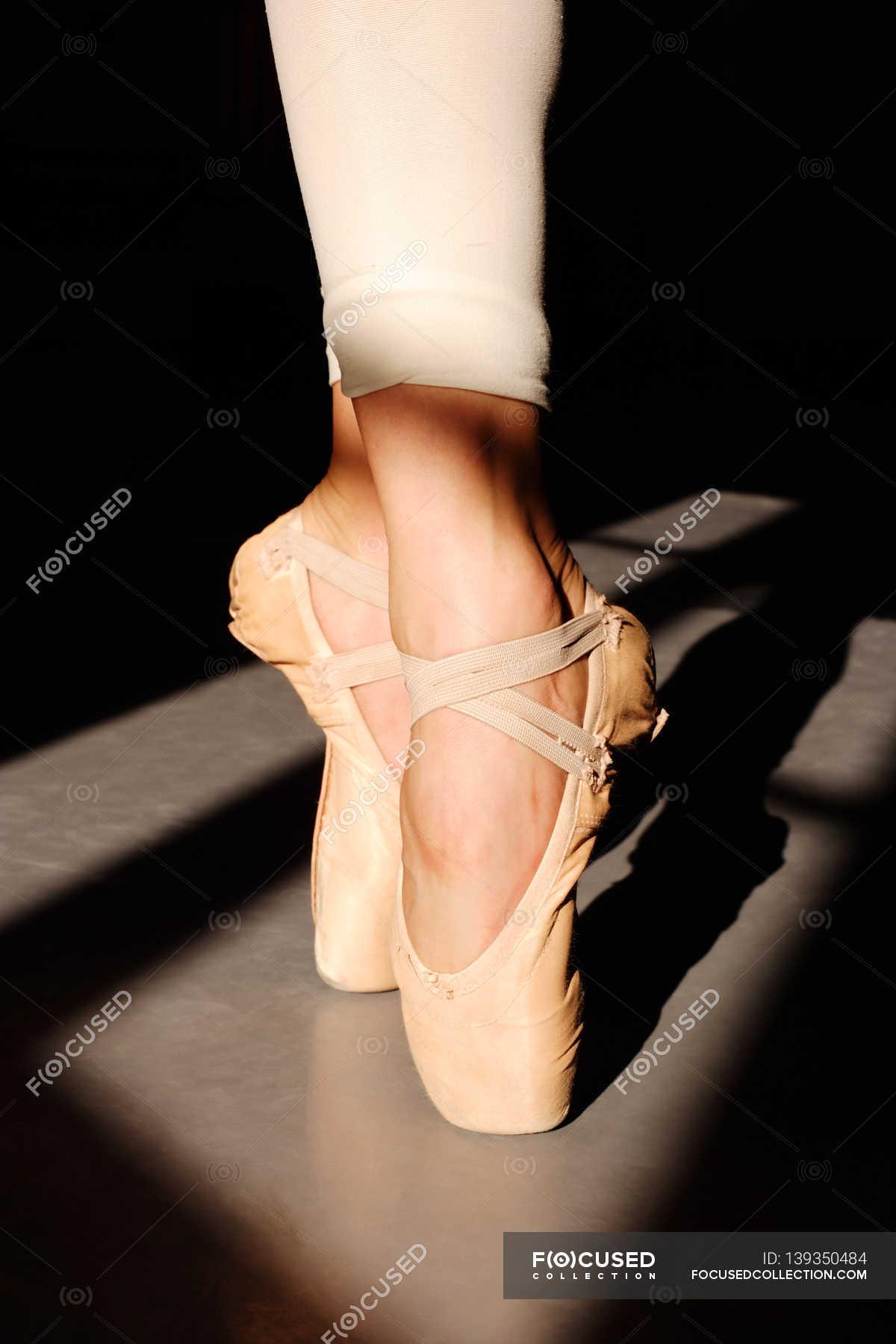 Ballerina Füße in Spitzenschuhe — ausführung, stabilität
