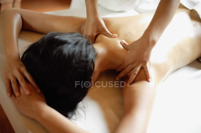 Spa treatment process — Stock Photo