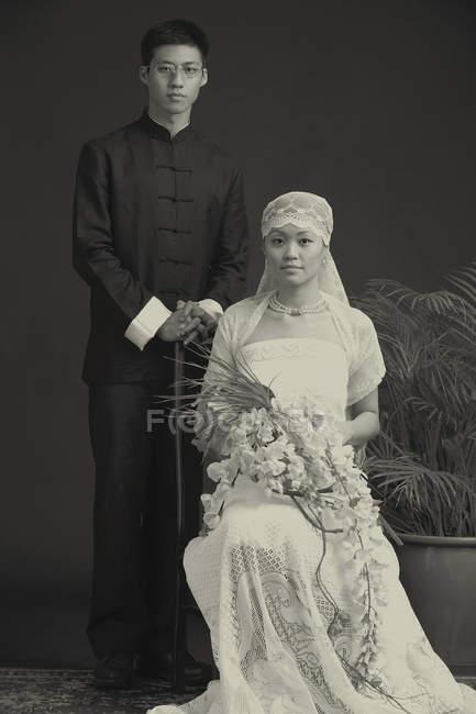 Ritratto di sposi — Foto stock