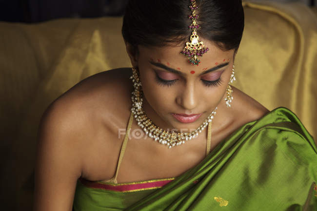 Frau tragen sari — Stockfoto