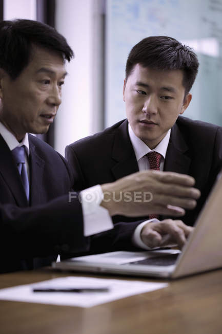 Business people talking during meeting — Stock Photo