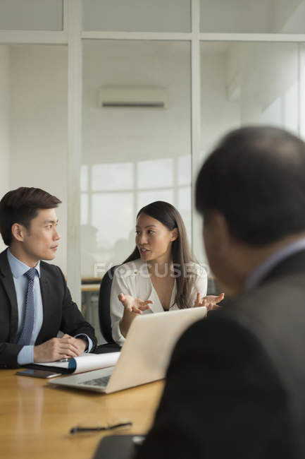 Business people during meeting — Stock Photo
