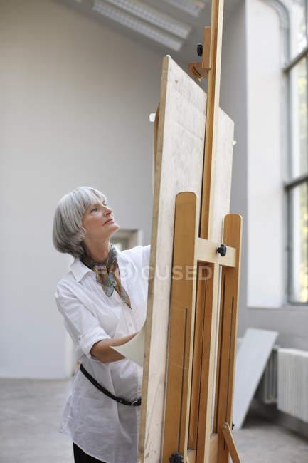 Жінка живопис картина — стокове фото