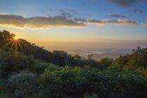 Восход солнца над Голубого хребта — стоковое фото