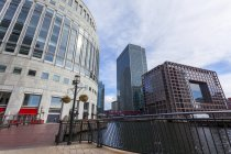 Middle Dock, Canary Wharf, London — Stock Photo
