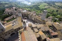 Aerial view of Sam Gimignano — Stock Photo
