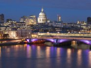 St. Paul Cathedral and Blackfriars Bridge — Stock Photo