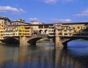 Ponte Vecchio Over River Arno — Stock Photo