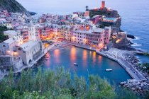 High angle view of Vernazza — Stock Photo