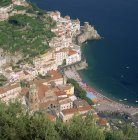 Town and beach at Amalfi — Stock Photo