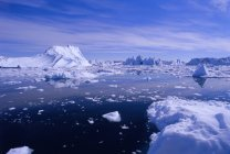 Icebergs de la glacé d'Ilulissat — Photo de stock