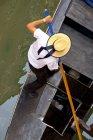 Ansicht der Gondoliere auf Gondel — Stockfoto