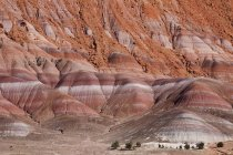 Rock strata in cliffs in Paria River Valley — Stock Photo