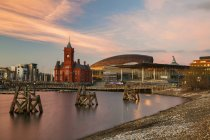 Observing view of Cardiff Bay — Stock Photo